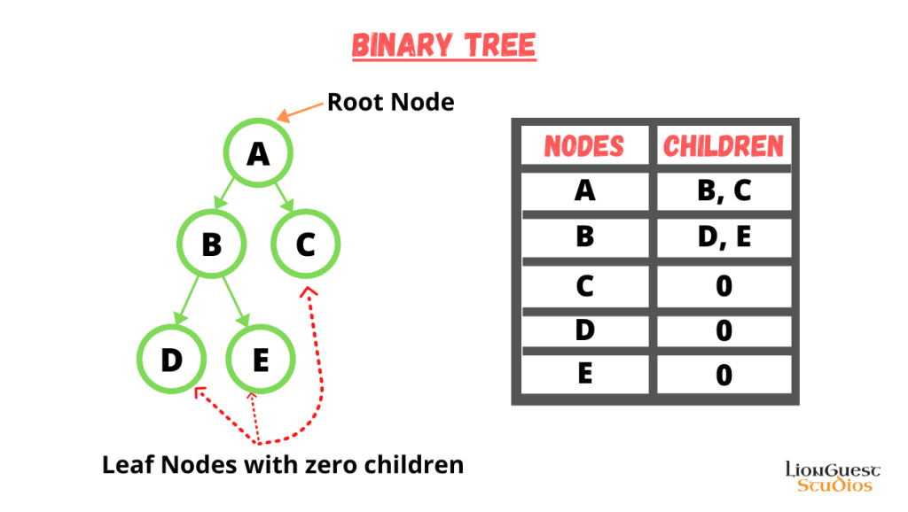 types of tree data structure Binary Tree lionguest studios